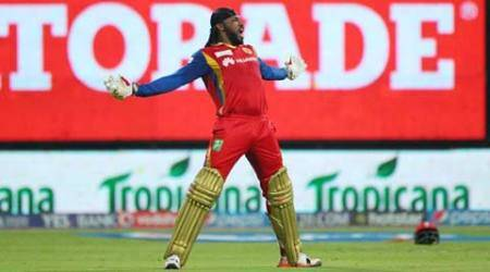 Chris Gayle's 117 powers RCB to 138-run win over KXIP