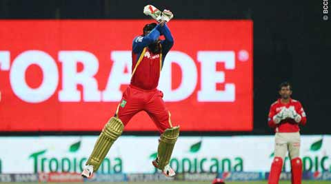 Chris Gayle, Gayle, Chris Gayle 100, RCB, Gayle RCB, RCB vs KXIP, KXIP vs RCB, Indian Premier League, IPL News, IPL 2015, Twitter, Cricket News, Cricket