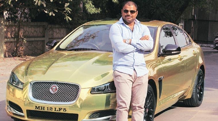 A Golden Jaguar Prowls Pune Roads Cities News The Indian Express