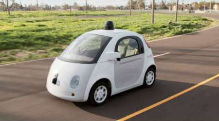 A Google self-driving car is shown in this handout photo. (Source: Reuters)
