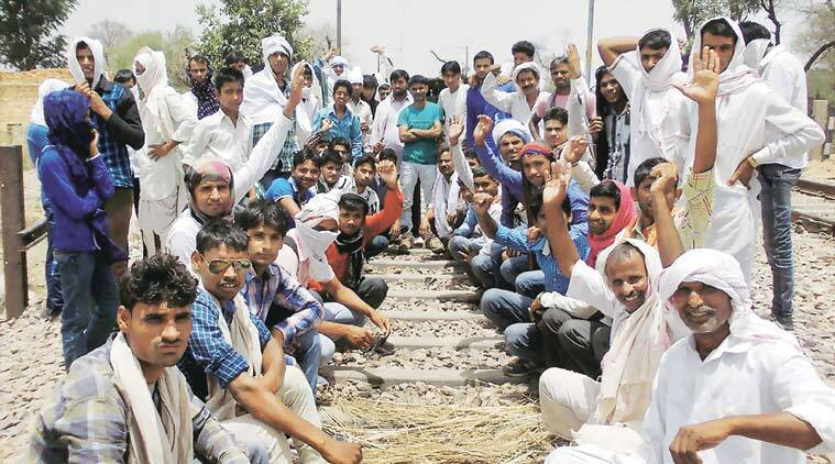 Gujjars, Delhi Mumbai railway, Gujjar protests, Rajasthan Gujjars, Gujjar pc quota, Gujjar government jobs, Gujjar representatives, Vasundhara Raje government,