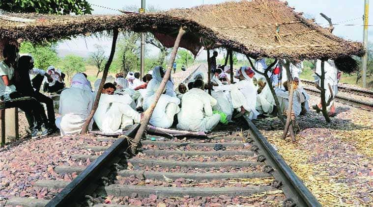 Gujjar community, Gujjar community protest, Gujjar community agitation, Delhi-mumbai track, rajasthan govt, job quota, quota, job reservation, india news, nation news, national news, Indian Express