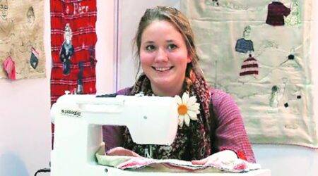 talk, delhi talk, fashion, textile artist, textile industry, Harriet Riddell, InStitch You in India, Britain, sewing machine, London