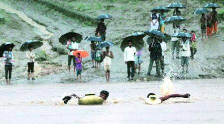 Hiran River: Kids swimming to school this monsoon too