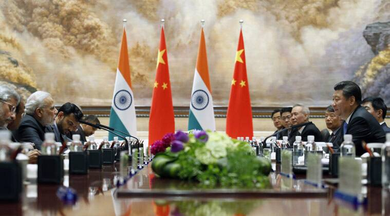 Summit level talks in progress between the leaders of India and China in Xi'an (Kim Kyung-Hoon/Pool Photo via AP)