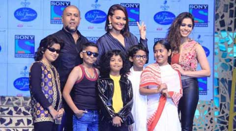 Indian Idol Junior, Indian Idol Junior show, sonakshi sinha, sonakshi sinha Indian Idol Junior, indian idol, vishal dadlani, shalmali kholgade, Indian Idol Junior contestants, Indian Idol Junior judges