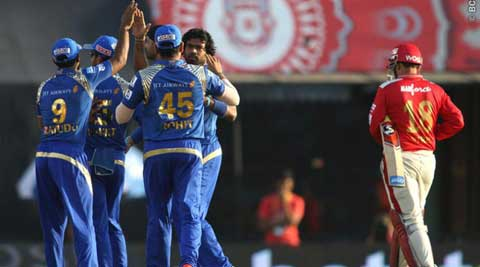 IPL Live Score KXIP vs MI: KXIP lose Virender Sehwag, Glenn Maxwell early in chase against MI