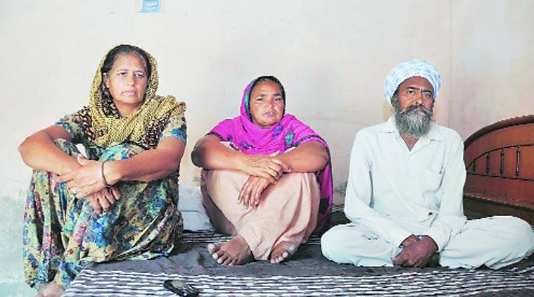 Family members of Daljeet Singh of Bhogpur. (Source: Express archives)