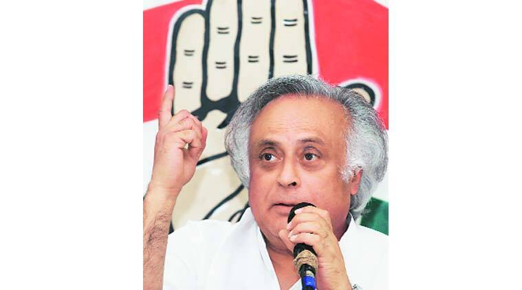 Jairam Ramesh in Kolkata on Sunday. (Source: Express Photo by Partha Paul)