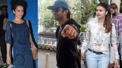 Kangana Ranant enjoys a night out; Prachi Desai, Sushant Singh Rajput fly back to Mumbai