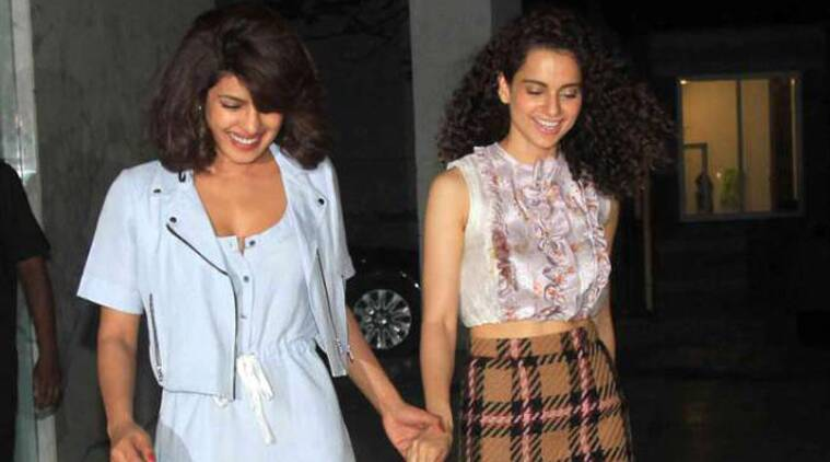 Priyanka Chopra, Kangana Ranaut, National film Awards, Dil Dhadakne do, Mary Kom, Queen, 62nd National Awards, Priyanka Kangana Girls Night Out, Priyanka Kangana Shraddha, National film Award Celebration, Anushka Sharma, Ranveer Singh, Kangana priyanka Party, Priyanka Chopra Kangana Ranaut Photograph, Mary kom Queen Together, Farhan Akhtar, Anil Kapoor, tanu weds manu returns, bollywood, entertainment news
