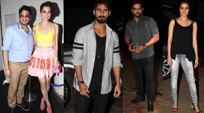 'Tanu' Kangana Ranaut parties with Shahid, Shraddha and 'Manu' Madhavan