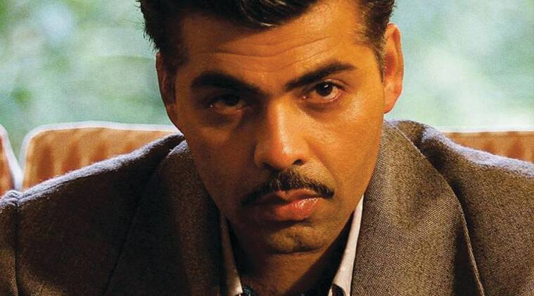 Karan Johar, Bombay velvet, Moustachioed look, Anushka Sharma, Ranbir Kapoor, Anurag Kashyap, Raveena tandon, Yash Johar, karan Johar Bombay Velvet, Karan Johar Moustache look, Karan Johar in Bombay Velvet, Karan Johar Bombay Velvet Look, Karan Johar Films, Dharma Productions, Bollywood, Entertainment news