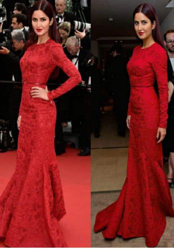 photos cannes 2015 katrina kaif is ravishing in red on