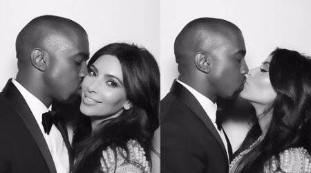 Kim Kardashian shares cosy pic with husband Kanye West on first wedding anniversary
