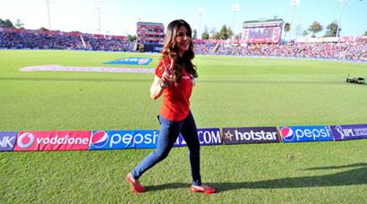 Sunny Leone enjoys KXIP vs MI