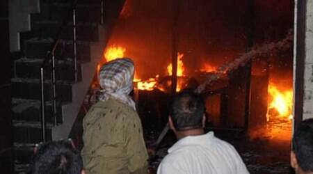 Major fire at Dal Bazaar in Ludhiana, fire tenders struggle in narrow streets of old city