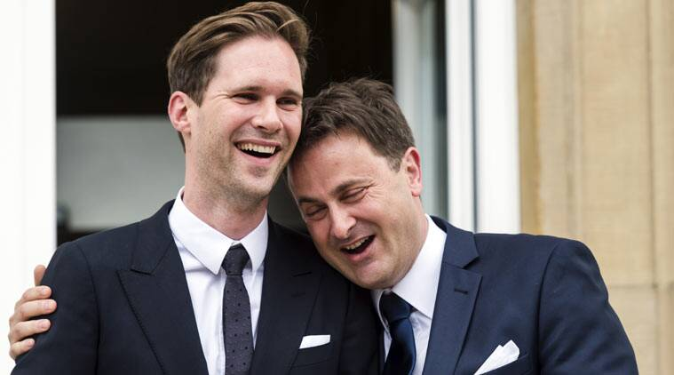 luxembourg  gay premier, luxembourg  gay leader, luxembourg  gay EU leader, luxembourg gay leader, Luxembourg PM gay marriage, 1st gay leader EU marriage, gay marriage, Luxembourg PM, Xavier Bettel gay marriage, gay partner Xavier Bettel, gay marriage, Luxembourg news, europe news, indian express