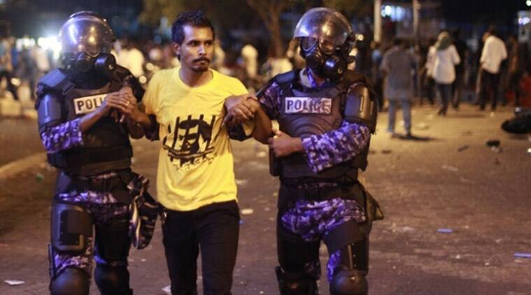 Male, Male protests, Male protesters, Male criminal court, Maldives, President Mohamed Nasheed, Abdulla Yameen regime, IE column