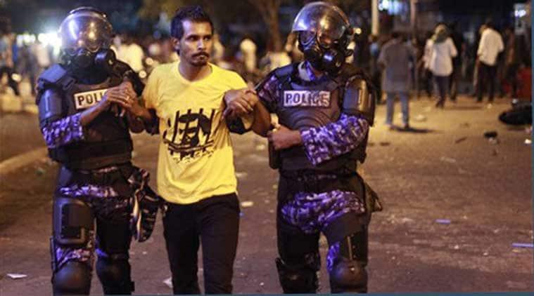 Maldives, Maldives protests, Free Nasheed protests, Mohamed Nasheed, Maldives anti-government protests, court order, Maldives opposition leaders detained, Maldives opposition leaders, Sheik Imran arrest, Maldives President, Yameen Abdul Gayoom, Maldives news, Asia news, international news, world news