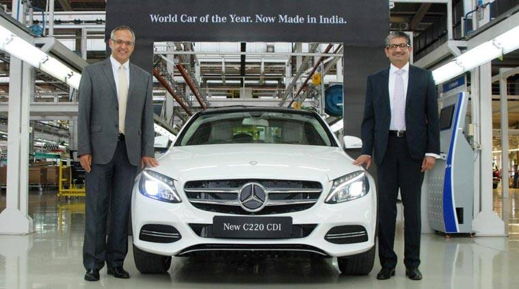 Locally assembled mercedes c class diesel launched price for Mercedes benz c class price in india