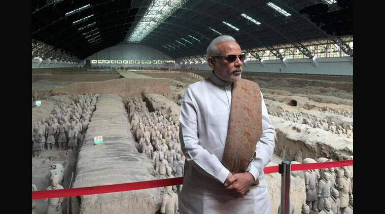 PM Modi at the Terracotta Warriors Museum in Xi'an, China (Twitter/PMOIndia)