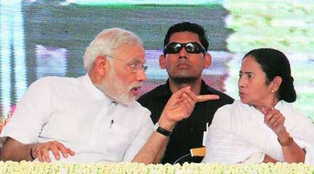 Narendra Modi, Modi govt, modi bangladesh visit, mamata banerjee, banerjee with modi, modi mamata in bangladesh, kolkata news, city news, local news, Bengal news, Indian Express