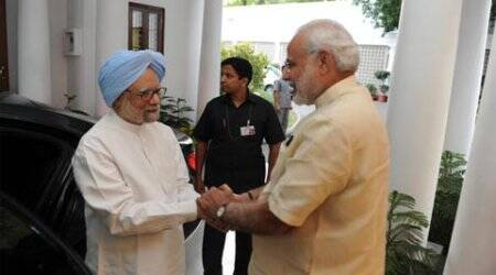 After attacking govt, Manmohan Singh meets PM Modi at 7RCR