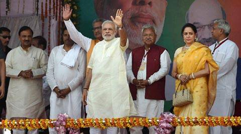 modi, narendra modi, modi mathura, modi mathura rally, PM Modi in Mathura, Narendra modi in Mathura, Mathura rally BJP, BJP mathura rally, Modi one year, Modi govt one year, PM Narendra Modi 1 year, Modi news, india news, mathra news, latest news, top stories