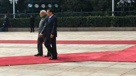Narendra Modi accorded grand reception ahead of talks with Chinese PM Li Keqiang