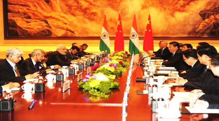 PM Modi in Restricted Talks with President of the People's Republic of China Xi Jinping at Shaanxi Guest House, Xi'an (Courtesy: Twitter/PIB India)