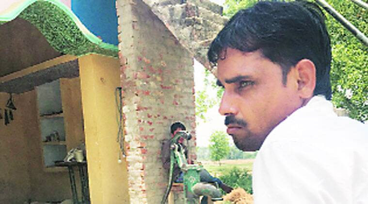 Mohd Kaleem in Sultanpur. (Source: Express)