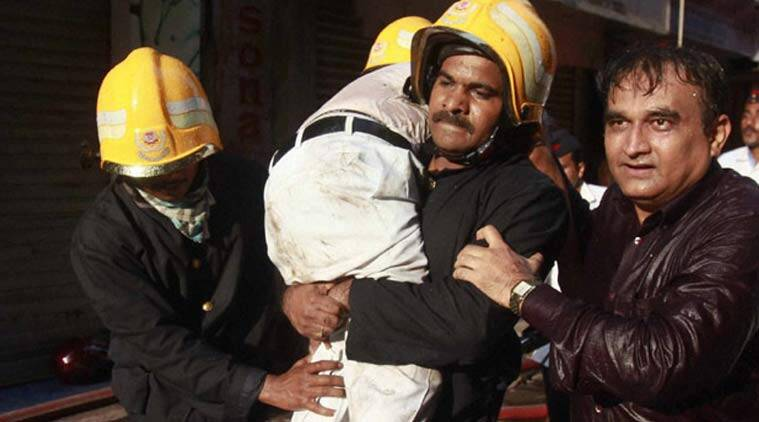 Mumbai fire, Mumbai building fire, mumbai Kalbadevi building fire, Mumbai Fire Brigade, BMC, Mumbai fire brigade officers death, Mumbai news, city news, local news, maharashtra news, Indian Express