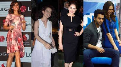 Of promotions and launches: Kangana, Madhuri, Sunny, Nargis