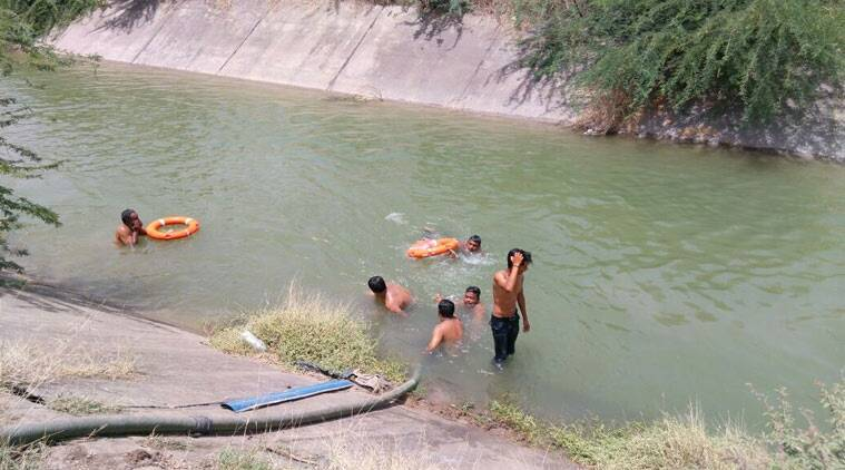 Dhandhuka police said the incident took place near Kothara village, some five kilometres east of Dhandhuka town when the trio went for a bath in the Vallabhipur Branch Canal of Narmada project at around 11 am. (Source: Express photo)