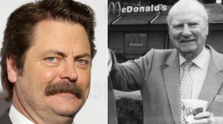 Nick Offerman, Dick McDonald, The Founder, Michael Keaton, Laura Dern, Nick Mcdonald, Nick Mcdonald Biopic, McDonald Biopic, Nick offerman Dick McDonald, McDonald Nick, Dick McDonald Biopic, Nick Offerman Biopic, Nick Offerman The Founder, Nick offerman in the founder, hollywood news, entertainment news