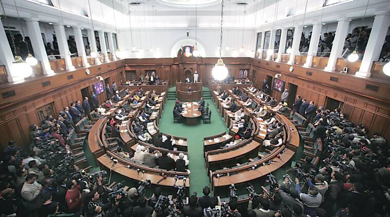 CM Kejriwal has called a special assembly session Tuesday. (Express photo by Oinam Anand)