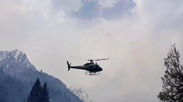 A Nepalese military official said the helicopter may have come down in one of the rivers that snake through valleys in the district of Dolakha, east of the capital, Kathmandu.