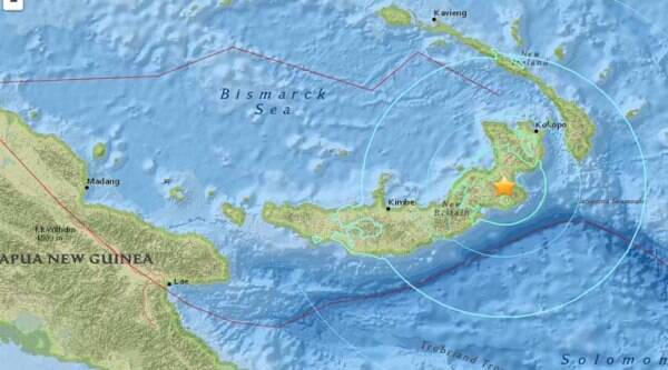 7.1 magnitude earthquake hits Papua New Guinea a day after the region was jolted by a 6.7 earthquake. (Image source: USGS)