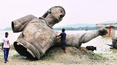 Lachit Barphukan, Ahom general statue, statue in Brahmaputra, Brahmaputra staute ahom general, Lachit Barphukan statue, statue of Lachit Barphukan, Lachit Barphukan history, ahom general statue in Brahmaputra, Indian Express, #ExpressExplained, India News, Assam News