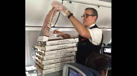 Pizza party: Delta pilot orders pizzas for grumpy passengers on delayed flight