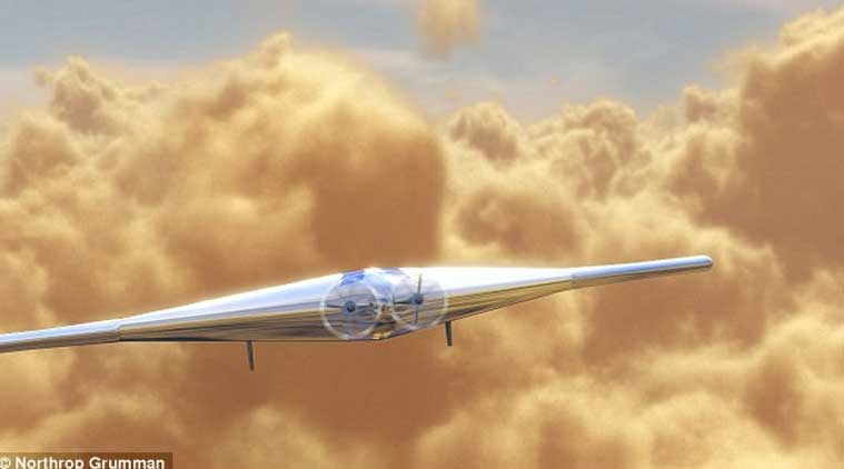 An artist's impression of the Venus plane. It would have almost twice the wingspan of a Boeing 737. (Photo: Courtesy, Northrop Grumman)
