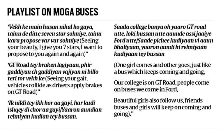 Playlist in Moga buses