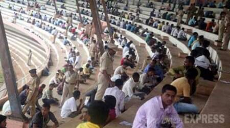 Police recruitment: As 2 lakh sit for exam, 5,100 on toes to prevent cheating