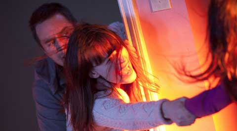 Poltergeist, Poltergeist movie, Poltergeist review, Poltergeist movie review, Poltergeist stars, Poltergeist cast, Poltergeist film, Poltergeist rating, Sam Rockwell, Rosemarie DeWitt, Kyle Catlett, Kennedi Clements, Jared Harris