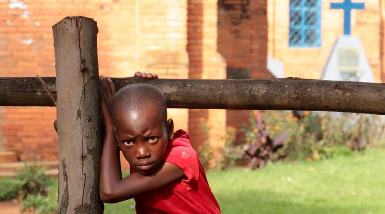 A child plays in a church in Buye a rural town north of capital Bujumbura. (Source: Reuters)