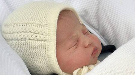 Prince Harry meets niece Princess Charlotte for the first time