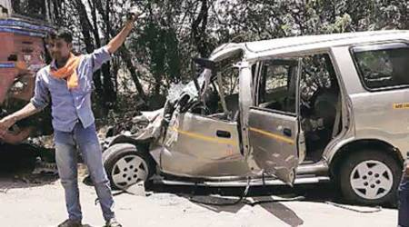 accident, road accident, hit-and-run cases, hit-and-rum, unsafe road, fatal accident, Chandigarh news, Road Accident analysis cell, chandigarh police, city news, local news, Indian Express
