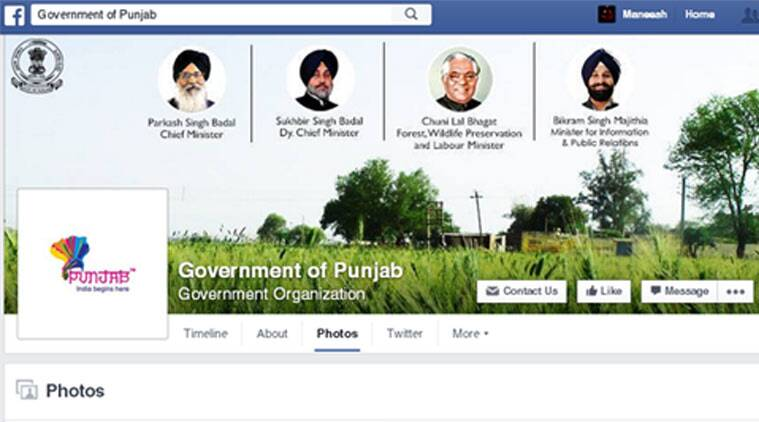 A look at the Punjab government's page being managed by the company shows that every advertisement published in print media is uploaded here as well. (Source: Facebook)