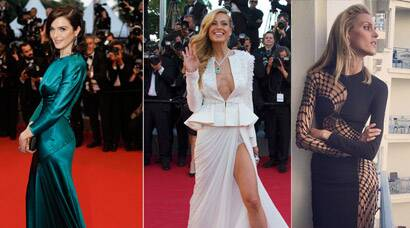 Cannes 2015: Rachel Weisz picks teal, Anja Rubik goes risque